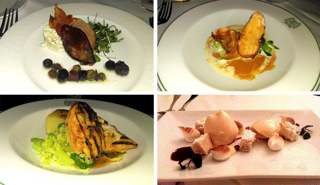 The Welcombe Hotel's Evening Meal options; from a travel blog by www.traveljunkiegirl.com