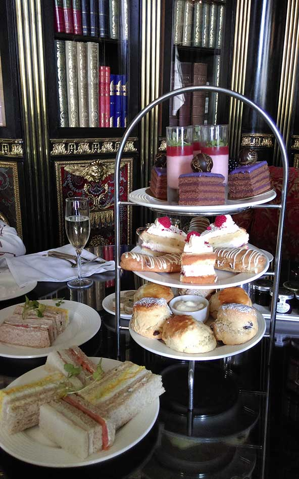 Traditional Afternoon Tea at Wynyard Hall, County Durham; from a travel blog by www.traveljunkiegirl.com