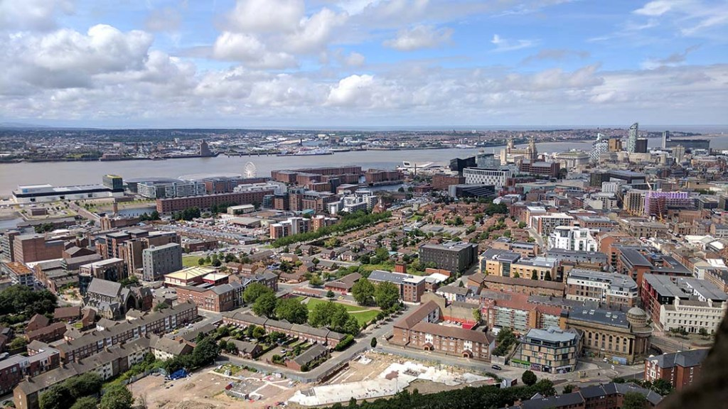 View from Liverpool Cathedral Tower; from a cultural travel blog by www.traveljunkiegirl.com