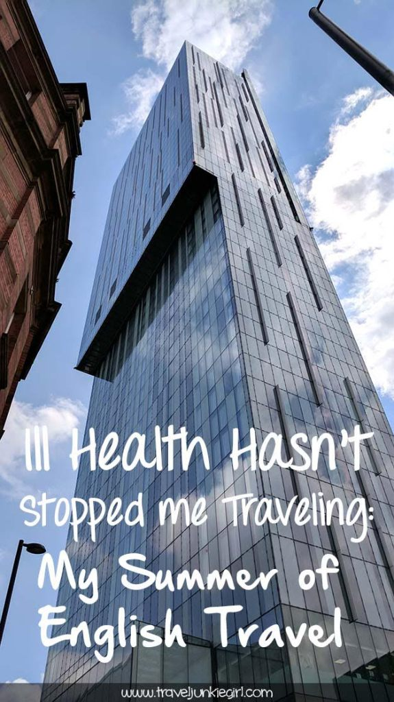 Pinterest: Ill Health Hasn't Stopped me from Travelling - My Summer of English Travel; from a cultural travel blog by www.traveljunkiegirl.com