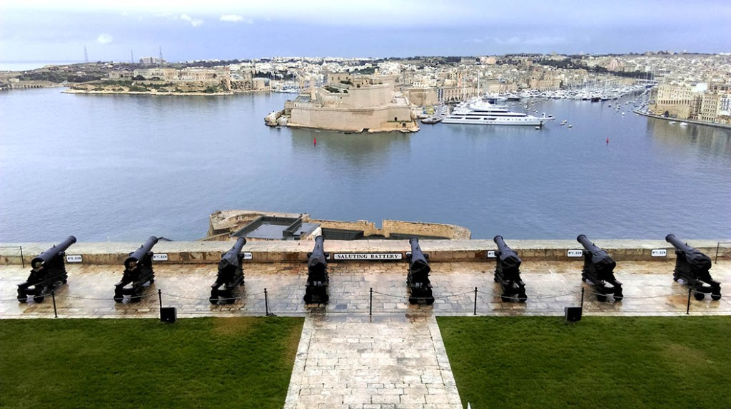 Valletta Saluting Battery in Malta; 2018 European Capital of Culture; from a cultural travel blog by www.traveljunkiegirl.com