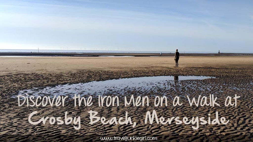 Discover the 100 Iron Men that make up Anthony Gormley's 'Another Place' installation at Crosby Beach, Merseyside - it makes for a lovely walk; from a travel blog by www.traveljunkiegirl.com