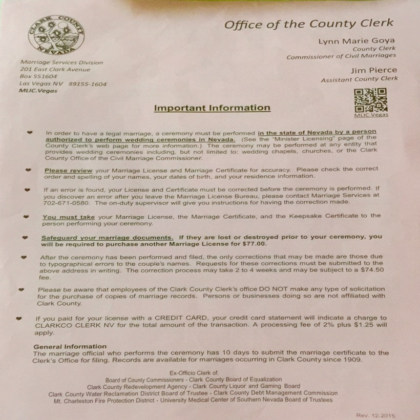 Clark County Marriage License Bureau Las Vegas Nv Baik Bag