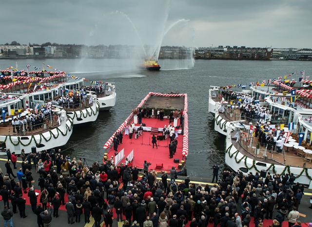 Viking River Cruises sets a World Record christening ten new Longships in one day.
