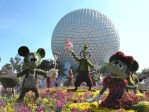 Mickey and Friends greet visitors to the Epcot International Flower and Garden Festival at Walt Disney World.
