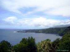 A view along the east Maui shoreline towards Hana.