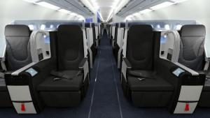 "JetBlue's new premium cabin features 22.3"" wide, lie-flat seats that come with generous amenities and the low-fare carrier's traditionally accessible fares."