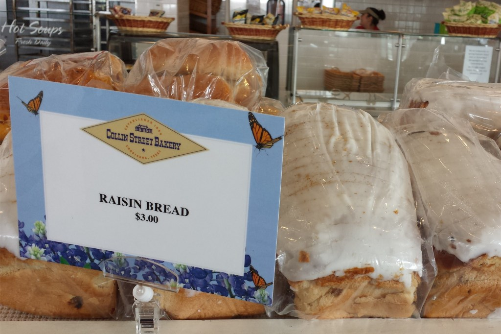 Raisin Bread at Collin Street Bakery in Waco