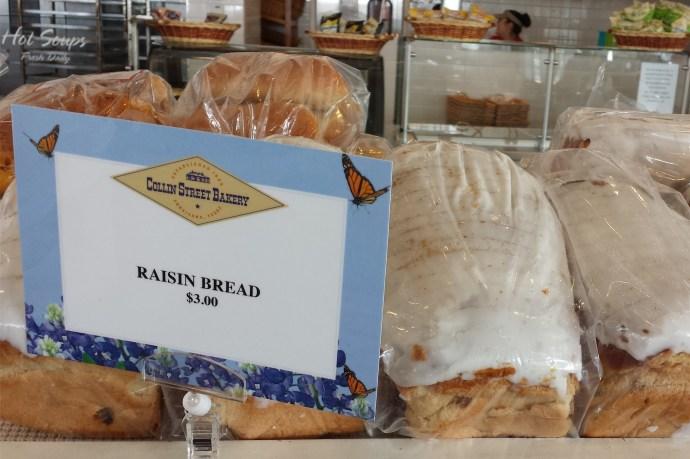 Raisin Bread at Collin Street Bakery in Waco