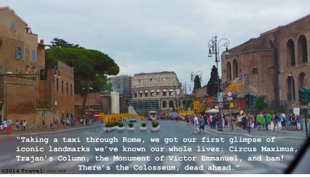 The road to the Colosseum - Rome in a Day via @TravelLatte.net