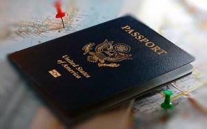 Photo of US Passport and Maps