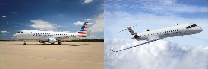 Photo of American Eagle ERJ-175 and CRJ900
