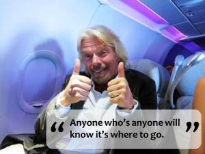 Photo of Sir Richard Branson giving Thumbs Up!