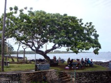 Hana Beach Park is fantastic with picnic tables, restrooms, and a gorgeous beach!