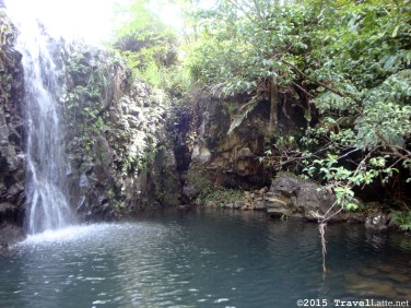 Tranquil pools, beautiful falls, and the occasional grotto can be found throughout Hawaii. Unfortunately, the water can be really cold!