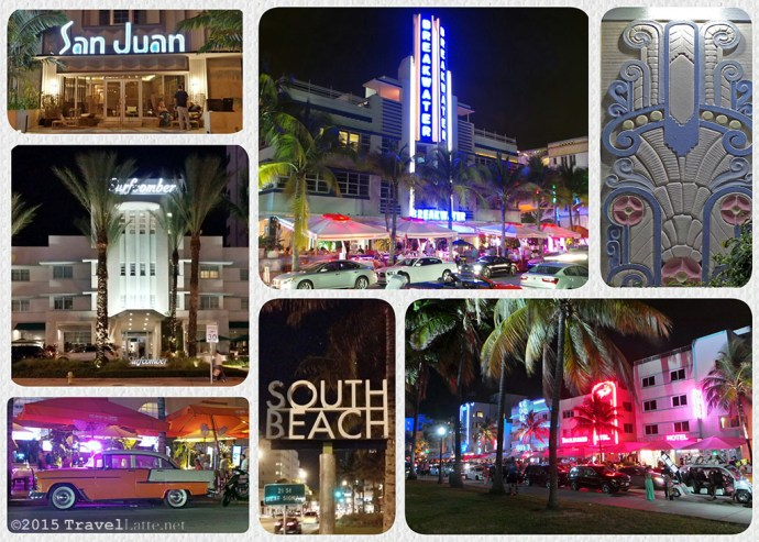 Photo Collage of South Beach landmarks