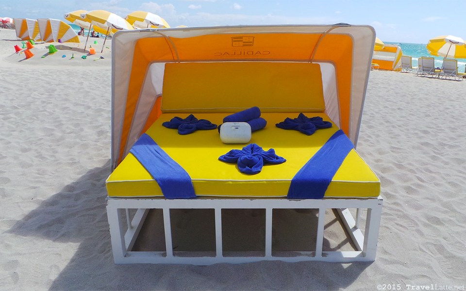 Photo: Courtyard Cadillac Hotel beach cabana and accessories.