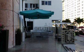 Photo: Front patio at Cadillac Hotel
