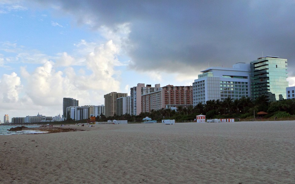 Photo: Miami Beach oceanfront cityscape