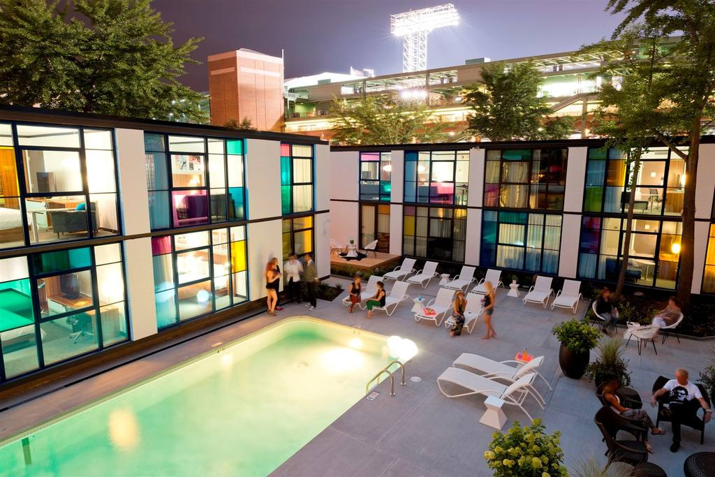 Photo: Verb hotel pool courtyard.