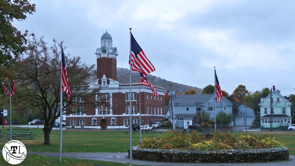 Gorham NH Town Hall & Veterans Garden