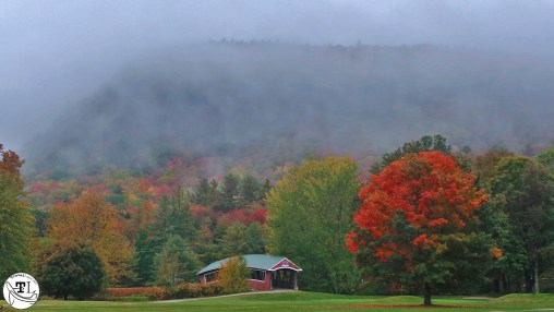 Fall Color and a Covered Bridge at the Wentworth Golf Club in Jackson NH
