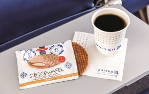 Photo: United Airlines' Complimentary Stroopwafel