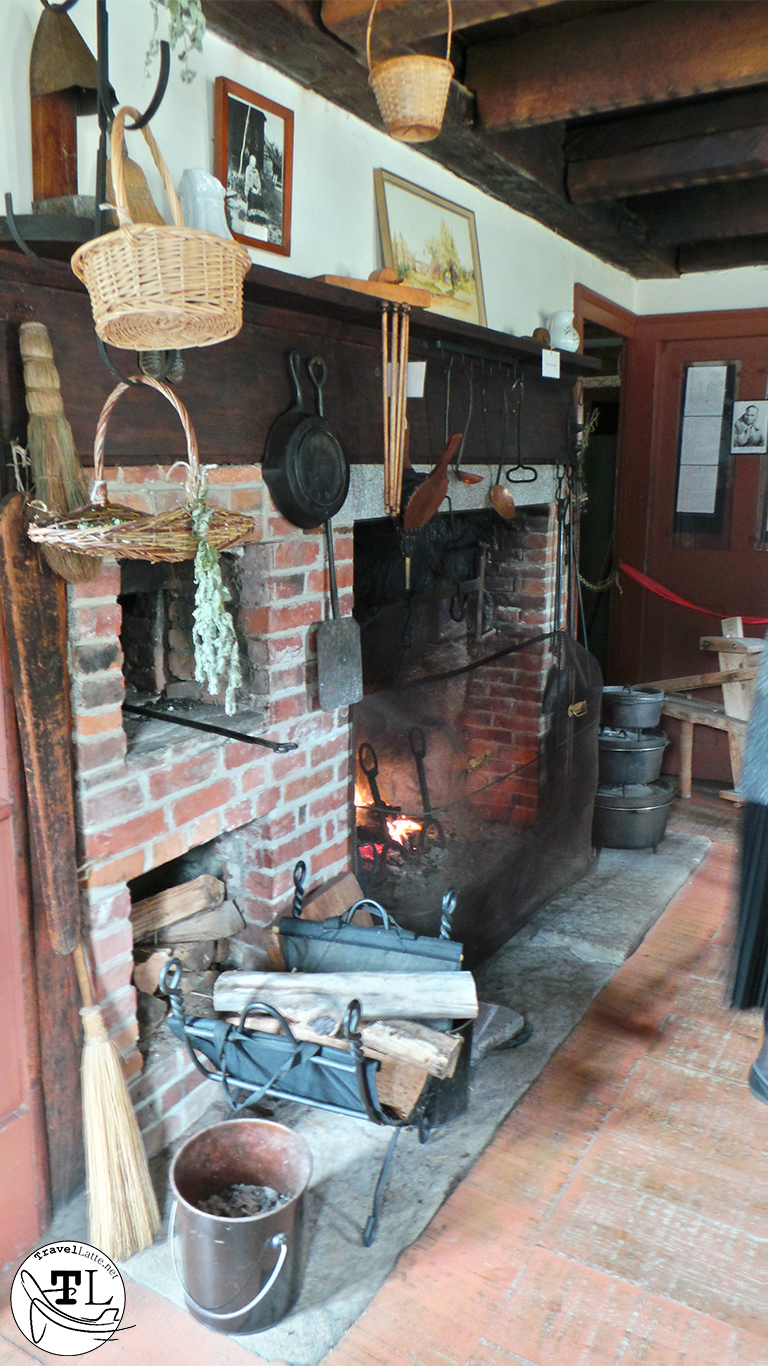 The hearth of the Russell-Colbath House, via @TravelLatte
