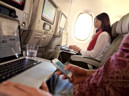 Emirates Air Economy Cabin via @TravelLatte