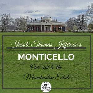 Historic sites near Charlottesville VA - Thomas Jefferson's Monticello - via @TravelLatte.net