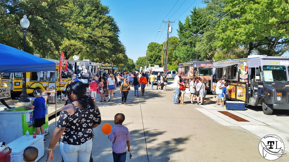 Food Trucks at the Plano International Festival via TravelLatte.net