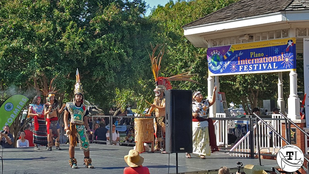 Ollin-Tonalzin Aztec Dancers at the Plano International Festival via TravelLatte.net