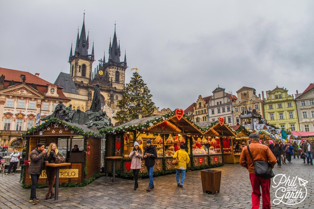 Phil & Garth in Prague on Five Festive Cities with Charming Christmas Markets via TravelLatte.net