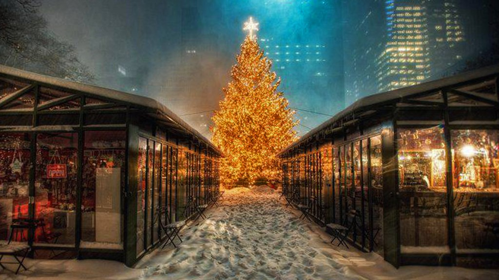 Christmas in New York on Five Festive Cities with Charming Christmas Markets via TravelLatte.net