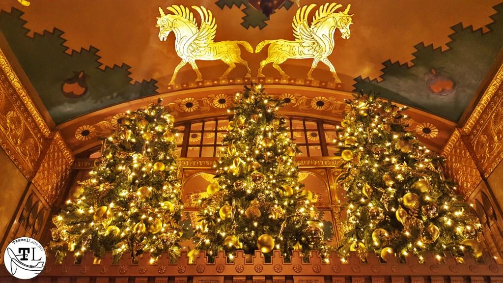 French Building Trees - Christmas in New York via TravelLatte.net