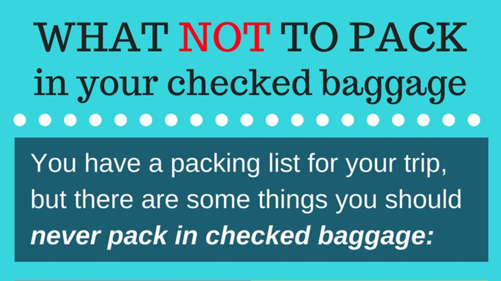 Travel Tips: What NOT to Pack in your Checked Baggage, via @TravelLatte.net