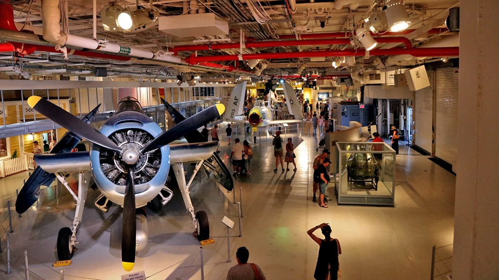 USS Intrepid Hangar Deck:  Visiting NYC with the New York Pass on TravelLatte.net