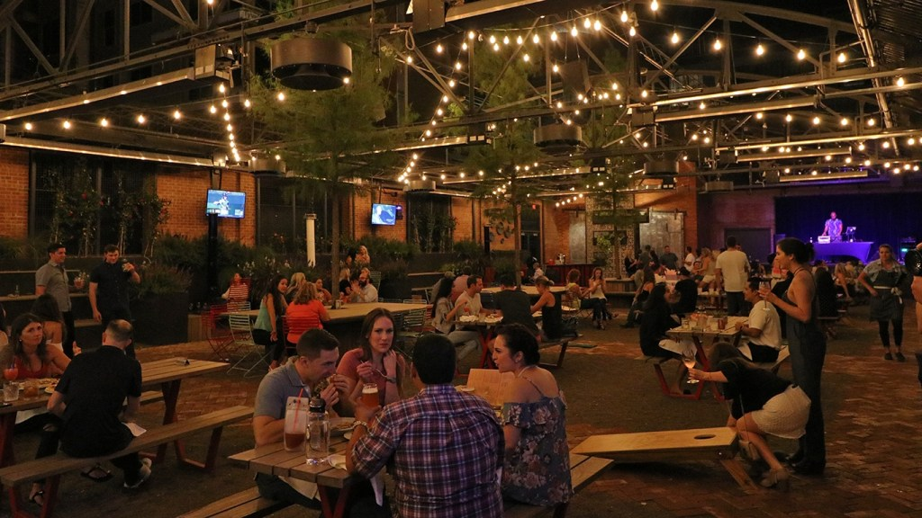 Outdoor seating at The Jones Assembly - Why You Should Visit Oklahoma City via @TravelLatte.net