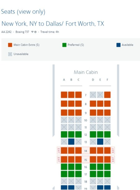 AA Seat Map - Get Your Best Seat on a Plane - TravelLatte