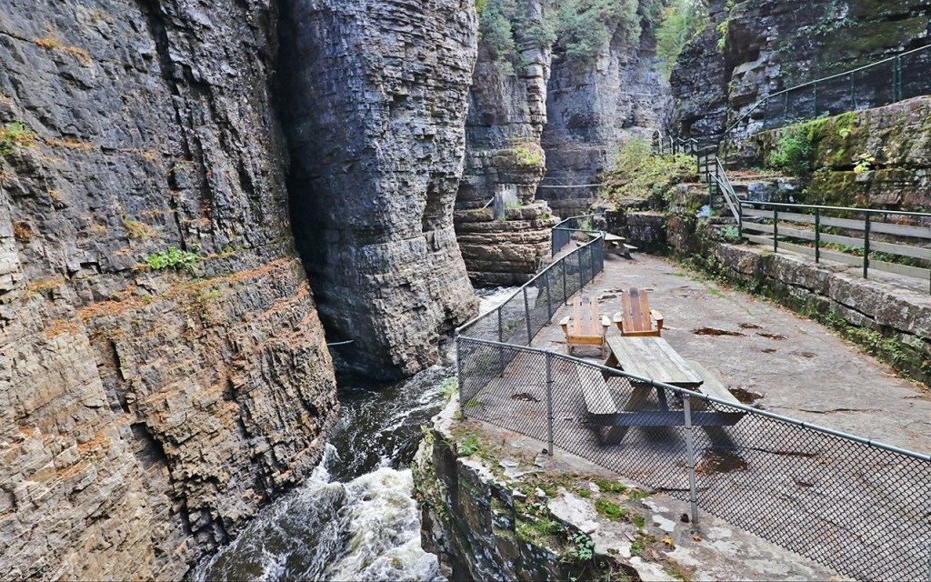 Picnic Site - Visiting Ausable Chasm, the Adirondack's Grand Canyon - TravelLatte