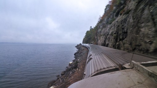 The Amtrak Adirondack skirts Lake Champlain and the rugged Adirondack Mountains, by TravelLatte.
