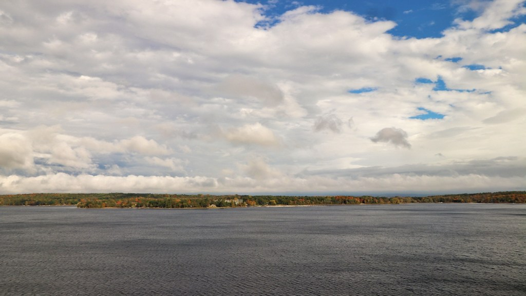 Amtrak Adirondack Train - View of Lake Champlain - by TravelLatte