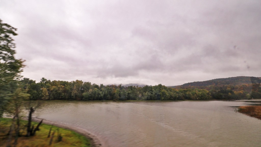 Crossing the Poultney River on the Amtrak Adirondack, by TravelLatte.