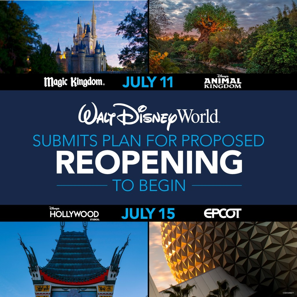Disney World Reopening - Reopening Schedule 2020 - TravelLatte