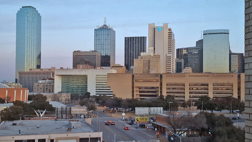Staying at the Lorenzo Hotel - Dallas Morning Skyline - TravelLatte
