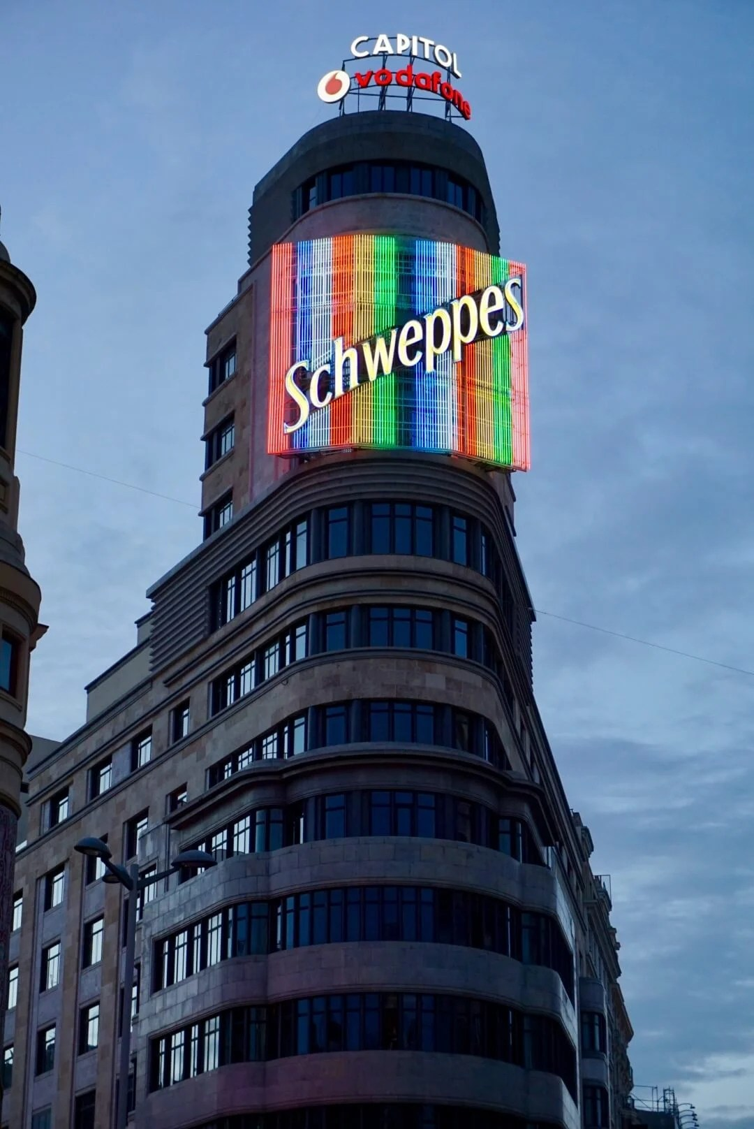 Madrid photo of Schweppes Sign at Carrion Building