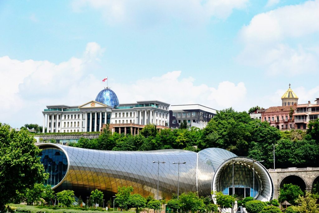 The glittering opera house and presidential palace