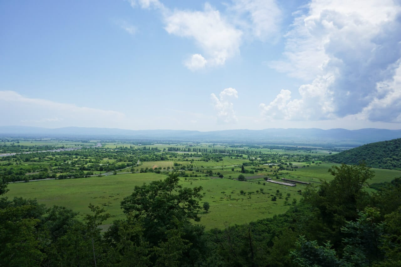 Myanmar photos: view over Lake Inle from winery