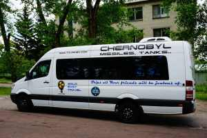 Bus for Chernobyl tours