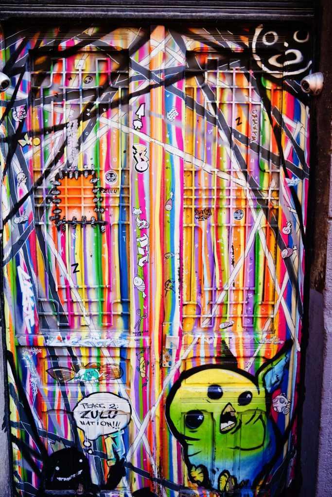 Belgrade Street Art: colorful door